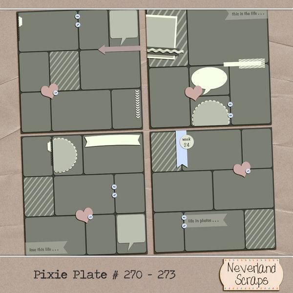 Pixie Plates #270-273